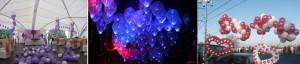 Праздничные композиции из гелиевых шаров