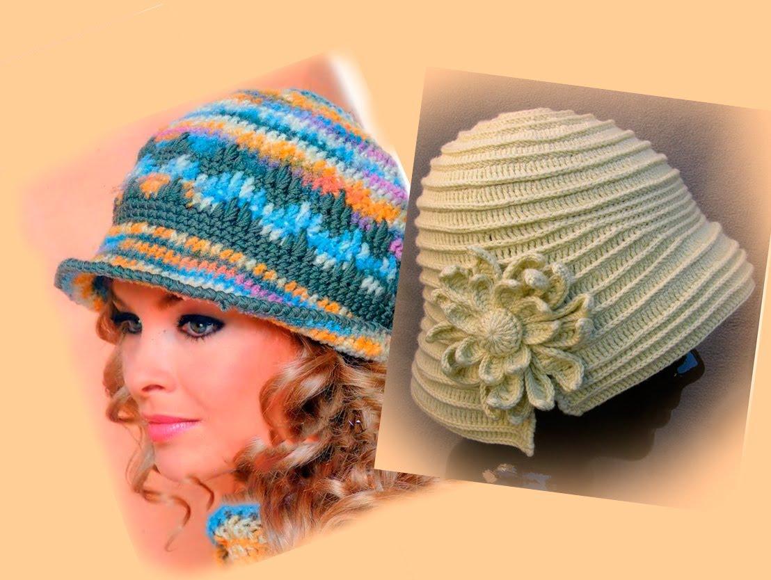 Вязаная шляпка